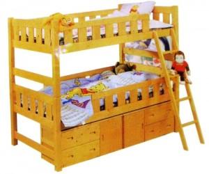 Mau giuong T200 300x250 Giường tầng cho trẻ nhỏ   cho bé yêu
